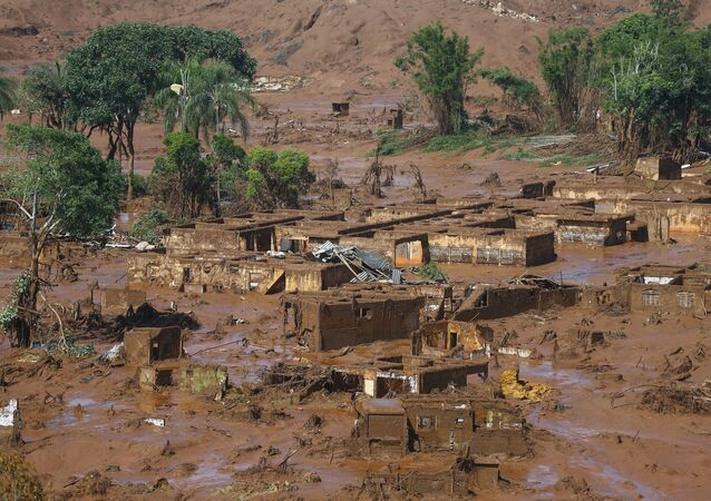 A huge area was inundated with toxic mud after a dam in Brazil owned by Vale SA and BHP Billiton Ltd burst in November 2015.