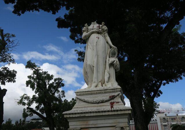 Martinique. Headless Statue of Empress Josephine