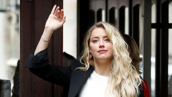 Amber Heard arrives at the High Court in London - Sputnik International