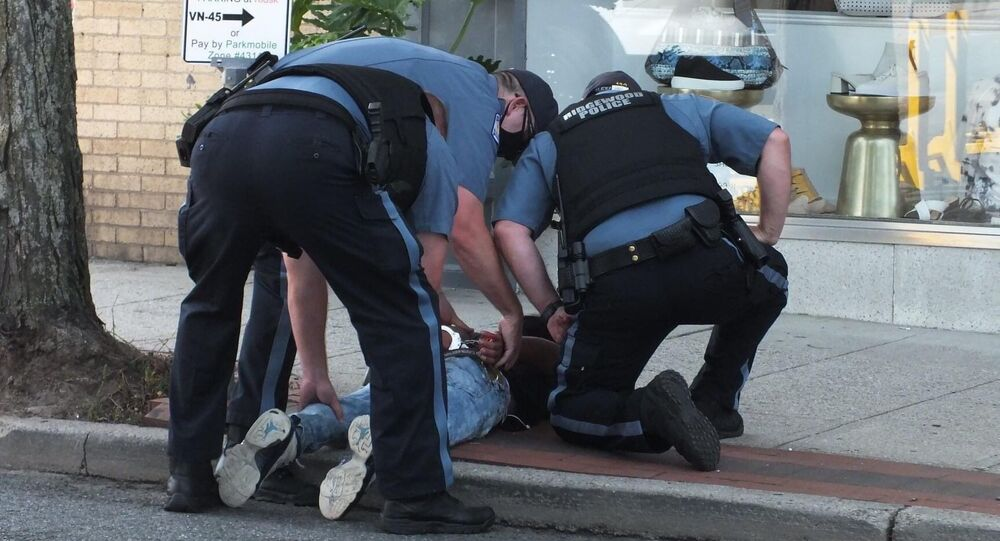 A New Jersey police department has launched an internal use-of-force review following the weekend circulation of social media footage showing two officers manhandling a 15-year-old boy before pinning him to the ground.