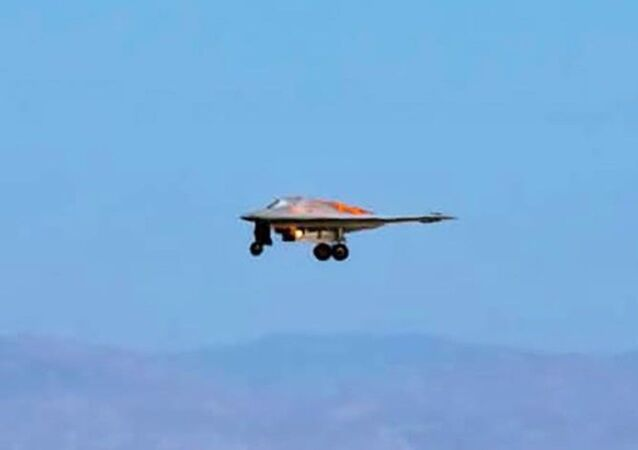 RQ-170 Sentinel photographed landing at United States Air Force Plant 42 in Palmdale, California.