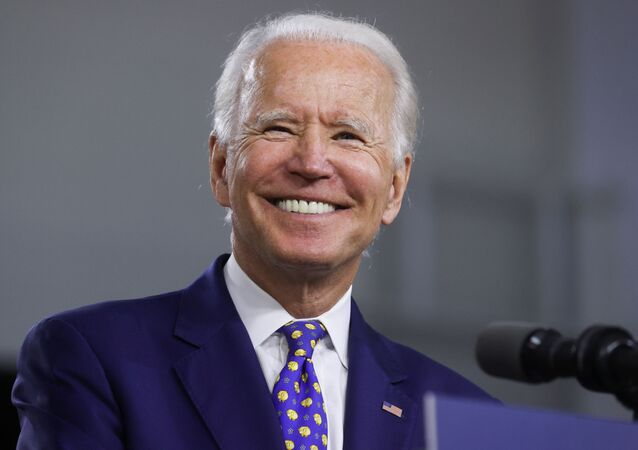 Democratic presidential candidate and former Vice President Joe Biden smiles during an event to announce his plans to combat racial inequality in Wilmington, Delaware, U.S., July 28, 2020.