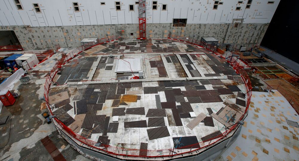 FILE PHOTO: General view of the circular bioshield inside the construction site of the International Thermonuclear Experimental Reactor (ITER) in Saint-Paul-lez-Durance, southern France, November 7, 2019. REUTERS/Jean-Paul Pelissier/File Photo
