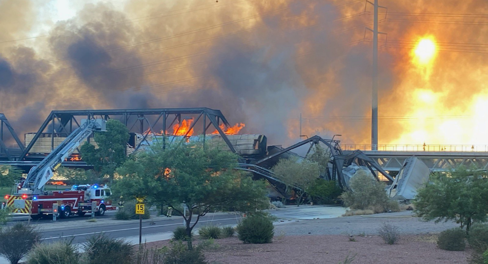 Major Fire Sparked by Train Derailment in Arizona