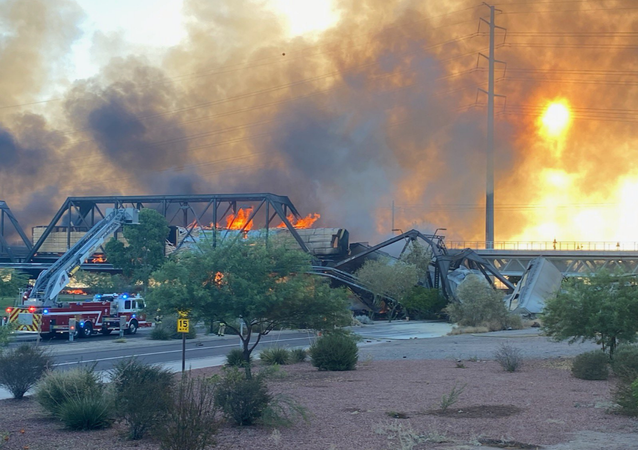 Major Fire Sparked by Train Derailment in Arizona