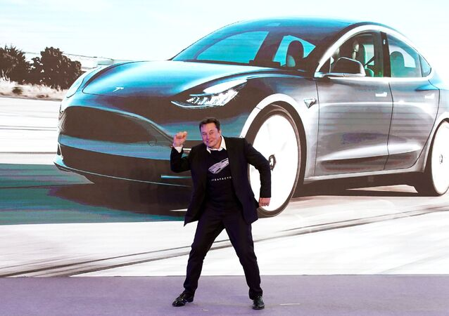 Tesla Inc CEO Elon Musk dances onstage during a delivery event for Tesla China-made Model 3 cars in Shanghai, China January 7, 2020