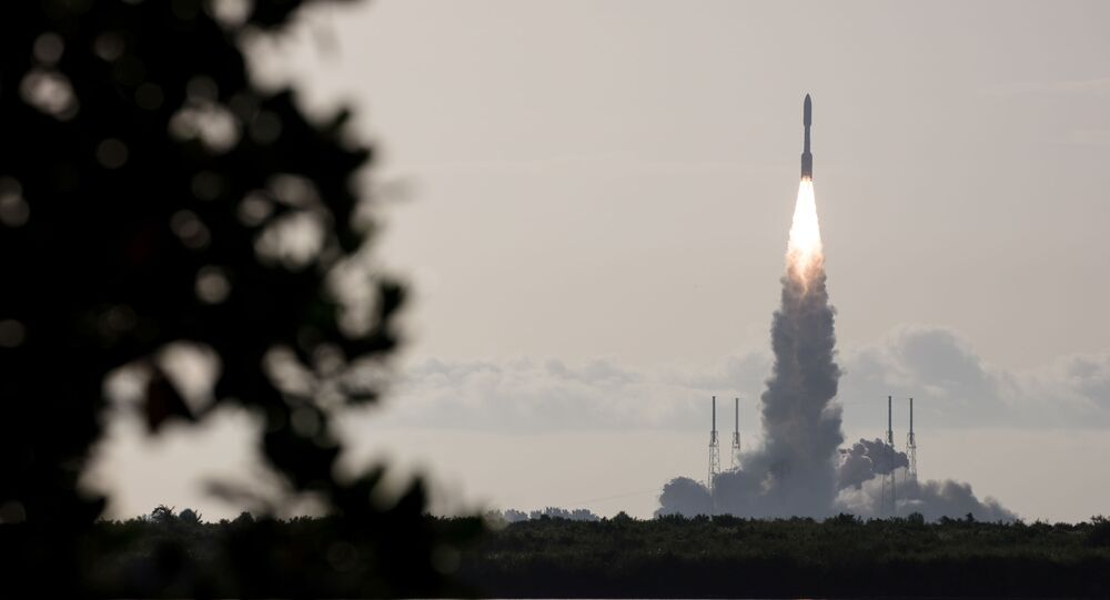 A United Launch Alliance Atlas V rocket carrying NASA's Mars 2020 Perseverance Rover vehicle takes off from Cape Canaveral Air Force Station in Cape Canaveral, Florida, U.S. July 30, 2020.