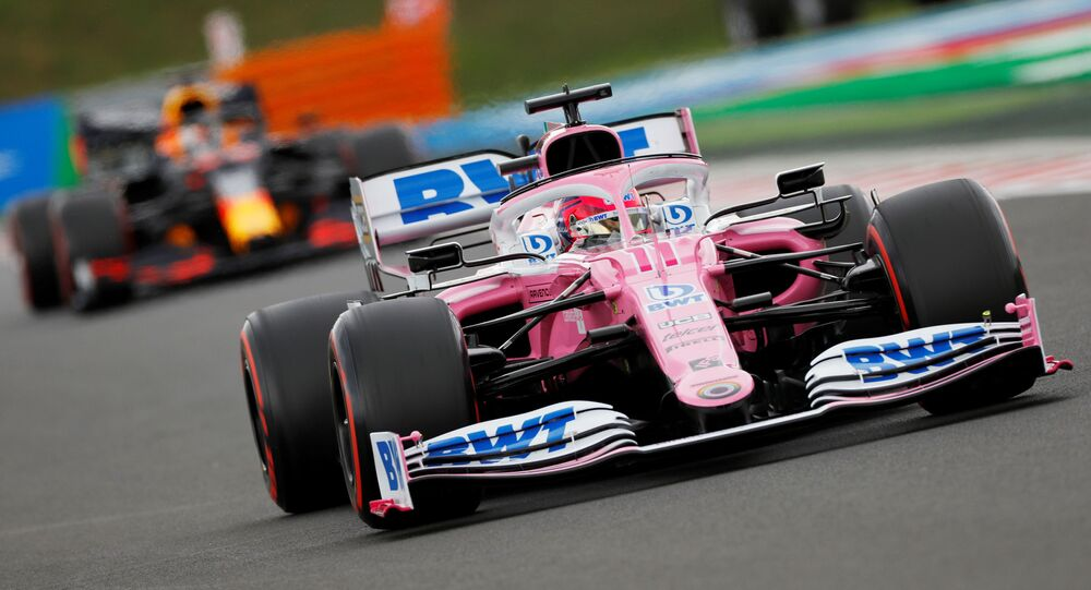 Formula One F1 - Hungarian Grand Prix - Hungaroring, Budapest, Hungary - July 18, 2020 Racing Point's Sergio Perez in action during qualifying