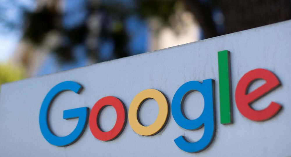 After the company announced it would extend its coronavirus work-from-home order until summer 2021, a  Google sign is shown at one of the company's office complexes in Irvine, California, U.S., July 27, 2020.