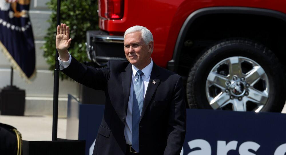 U.S. Vice President Mike Pence arrives on the South Lawn of the White House prior to U.S. President Donald Trump holding an event to tout administration efforts to curb federal regulations in Washington, U.S., July 16, 2020