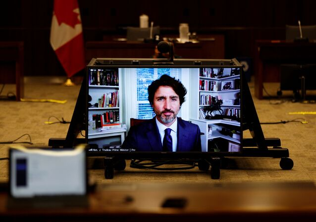 Canada's Prime Minister Justin Trudeau attends a House of Commons finance committee meeting, in Ottawa, Ontario, Canada July 30, 2020