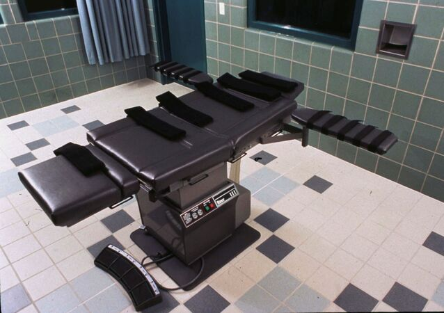 The execution chamber in the U.S. Penitentiary in Terre Haute, Indiana U.S. is shown in this undated photo.