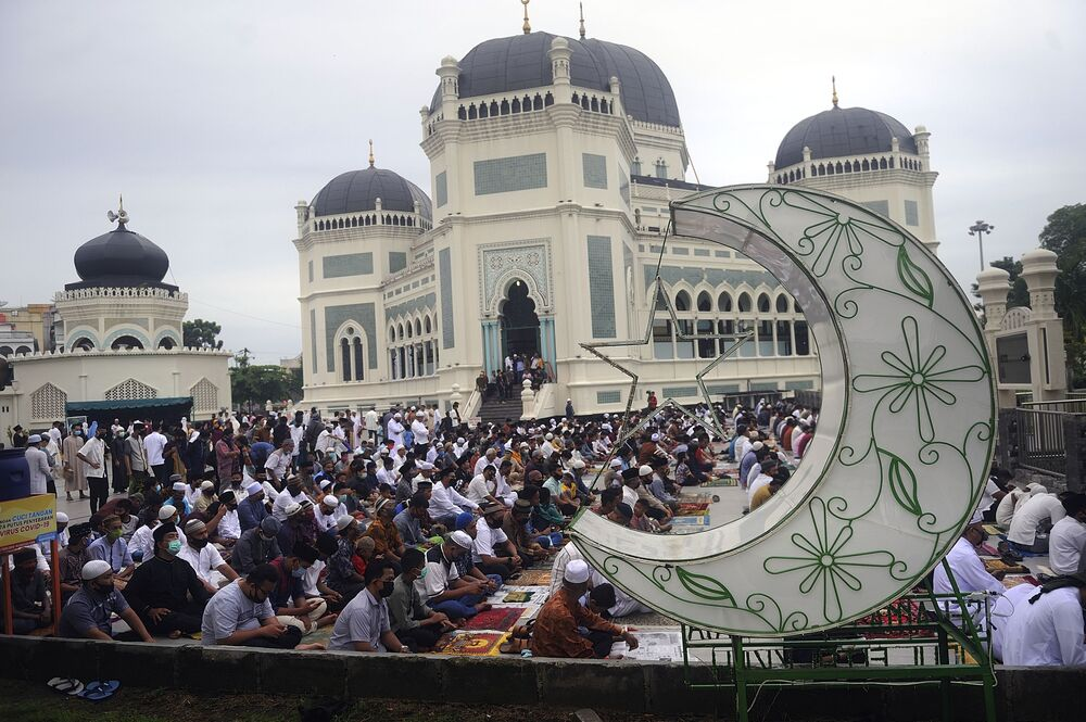 Eid al-Mashun celebration in Medan, Indonesia