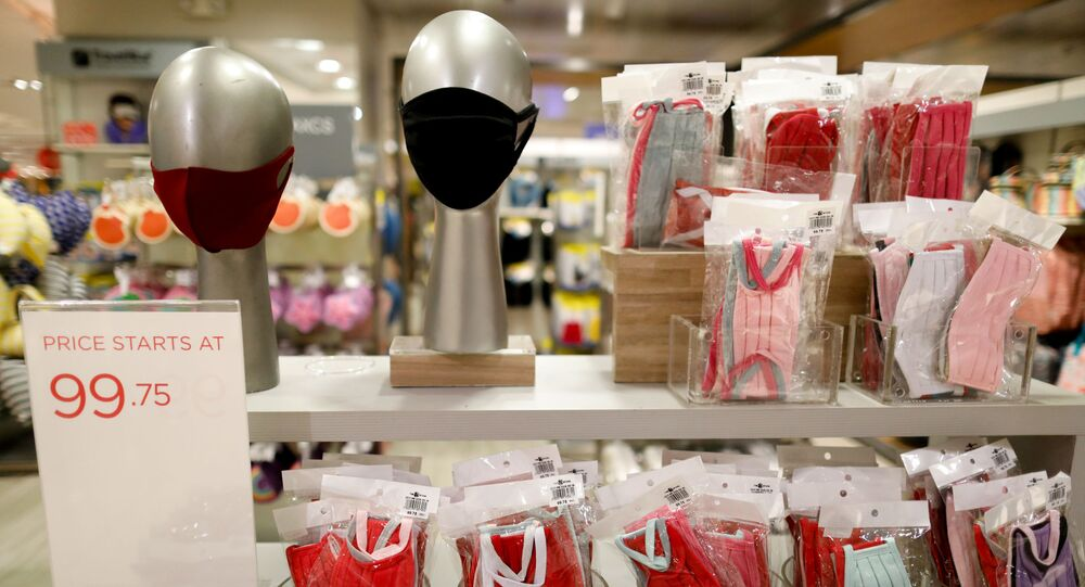 Cloth masks are displayed in a department store amid the coronavirus disease (COVID-19) outbreak, in Quezon City, Metro Manila, Philippines, July 13, 2020