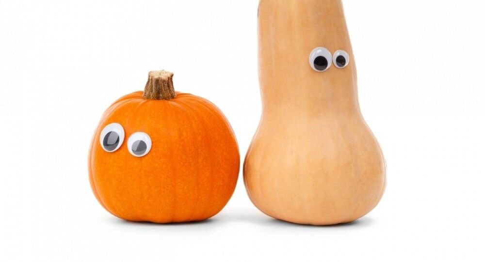 Funny vegetables with googly eyes.
