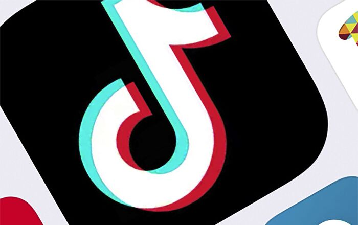 This Feb. 25, 2020, file photo, shows the icon for TikTok in New York.