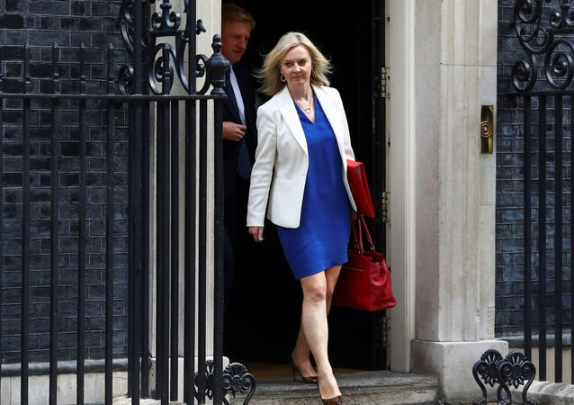 Britain's Secretary of State of International Trade and Minister for Women and Equalities Liz Truss leaves Downing Street, in London, Britain, July 14, 2020.