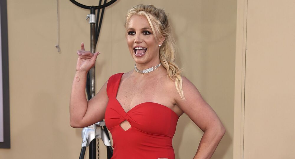 Britney Spears arrives at the Los Angeles premiere of Once Upon a Time in Hollywood at the TCL Chinese Theatre on 22 July 2019.