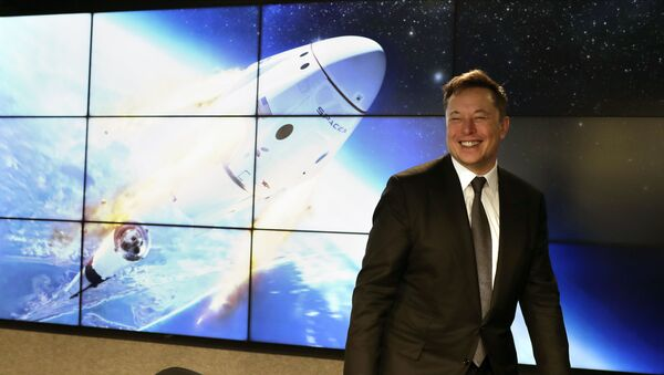 Elon Musk, founder, CEO, and chief engineer/designer of SpaceX speaks during a news conference after a Falcon 9 SpaceX rocket test flight to demonstrate the capsule's emergency escape system at the Kennedy Space Center in Cape Canaveral, Florida, Sunday, 19 January 2020 - Sputnik International