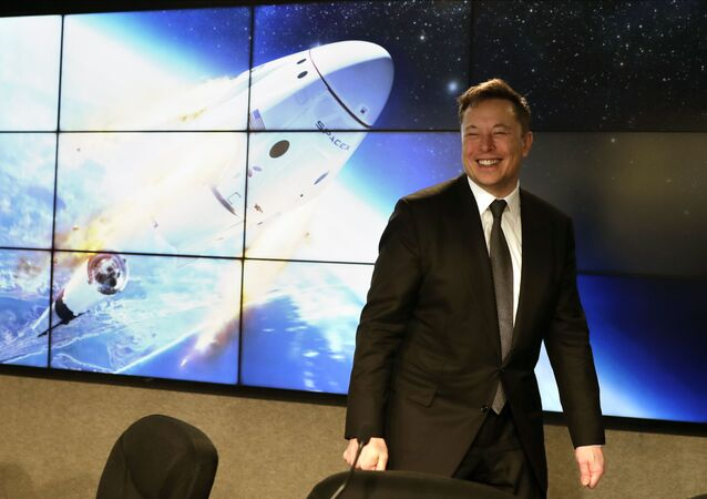 Elon Musk, founder, CEO, and chief engineer/designer of SpaceX speaks during a news conference after a Falcon 9 SpaceX rocket test flight to demonstrate the capsule's emergency escape system at the Kennedy Space Center in Cape Canaveral, Fla., Sunday, 19 January 2020