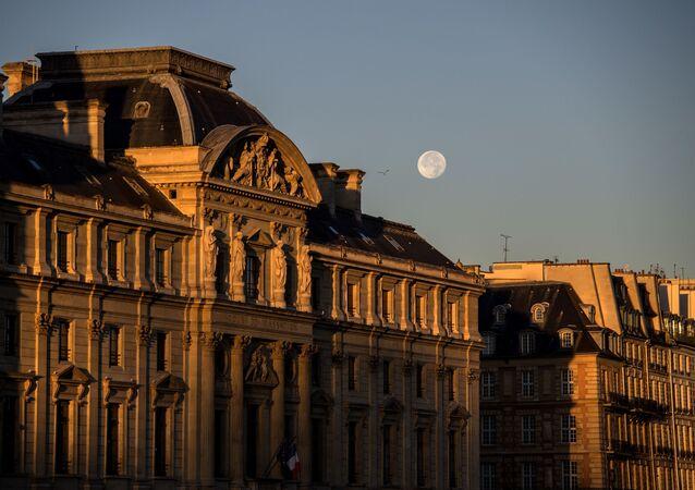 Full Moon Over The Cour de Cassation of Paris