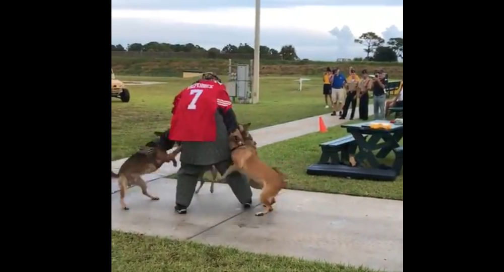 """Navy SEAL Museum in Fort Pierce used """"Colin Kaepernick stand-in for K-9 demonstration at fundraiser last year"""