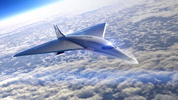 Concept drawing of The Spaceship Company's proposed supersonic passenger airliner - Sputnik International