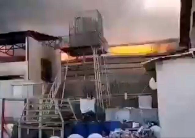 Fire in Industrial Area Near Tehran