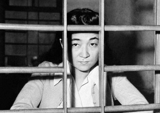 Iva Toguri D'Aquino, better known to American soldiers as Tokyo Rose, after being captured in Japan in October 1945.