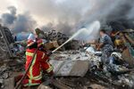 The Lebanese authorities have earlier refuted the initial reports that the blast was caused by a fire at a fireworks warehouse near the port..