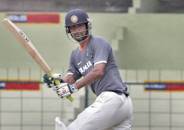 Indian cricketer Mohammad Kaif plays a shot during a practice match at a training camp in Bangalore, India, Friday, June 27, 2008