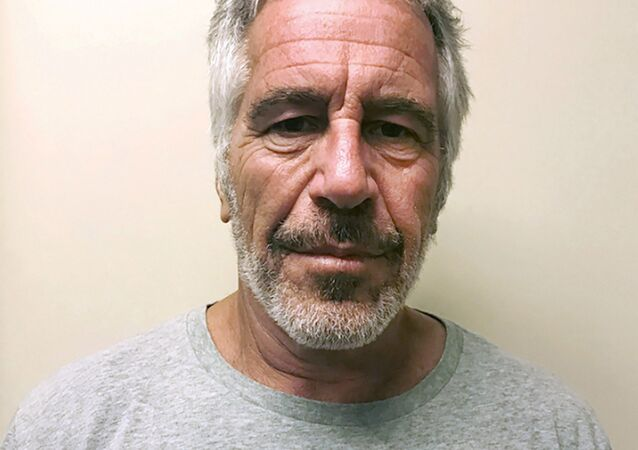 FILE - This March 28, 2017, file photo, provided by the New York State Sex Offender Registry, shows Jeffrey Epstein. British socialite Ghislaine Maxwell was arrested by the FBI on Thursday, July 2, 2020, on charges she helped procure underage sex partners for the financier
