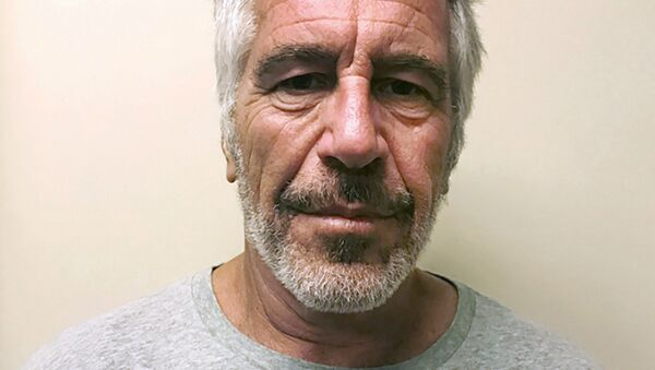 FILE - This March 28, 2017, file photo, provided by the New York State Sex Offender Registry, shows Jeffrey Epstein. British socialite Ghislaine Maxwell was arrested by the FBI on Thursday, July 2, 2020, on charges she helped procure underage sex partners for the financier - Sputnik International