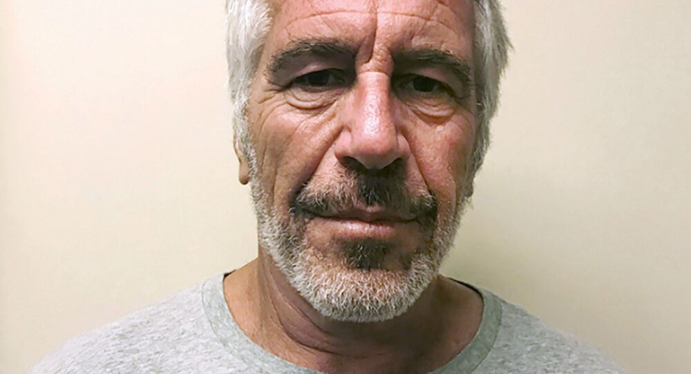 FILE - This 28 March 2017 file photo, provided by the New York State Sex Offender Registry, shows Jeffrey Epstein. British socialite Ghislaine Maxwell was arrested by the FBI on Thursday, 2 July 2020, on charges she helped to procure underage sex partners for the financier.