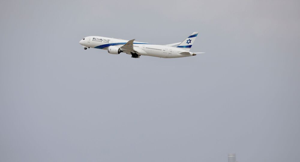 An El Al plane takes off from Ben Gurion Airport near Tel Aviv, Israel, Tuesday, March 10, 2020.