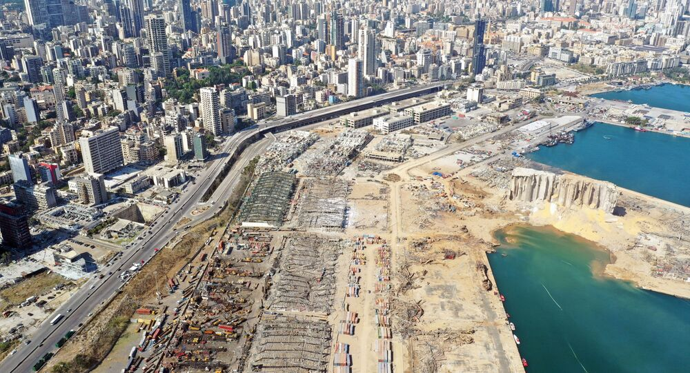 A general view shows the damage following Tuesday's blast in Beirut's port area, Lebanon August 6, 2020