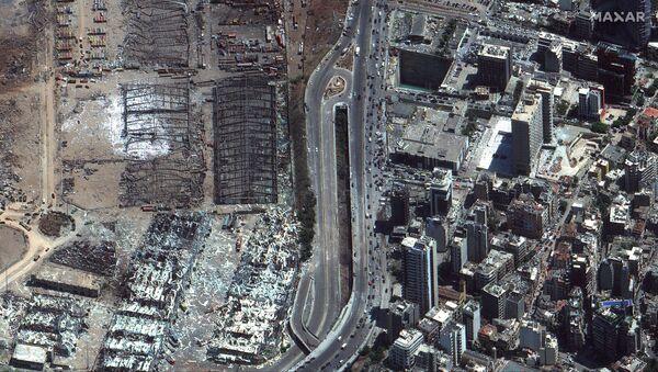 The 5 August satellite image of Beirut port after the blast - Sputnik International