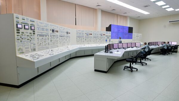 Practicing with a nuclear power plant control room simulator at the personnel training center for the the Belarusian nuclear power plant under construction near the city of Astravyets in the Hrodna region - Sputnik International