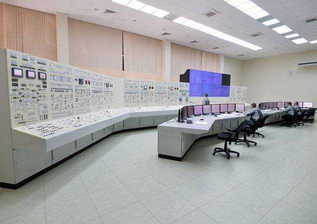Practicing with a nuclear power plant control room simulator at the personnel training center for the the Belarusian nuclear power plant under construction near the city of Astravyets in the Hrodna region