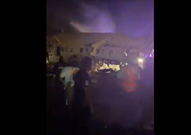 Air India Express Flight From Dubai Crash Lands