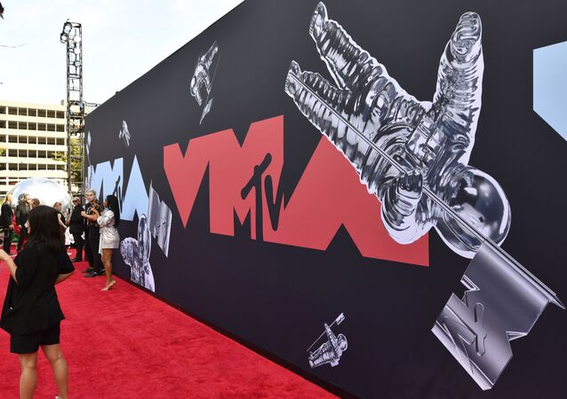 This Aug. 26, 2019 file photo shows a view of the red carpet at the MTV Video Music Awards in Newark, N.J. An MTV spokesperson said Monday that the show will take place Aug. 30 at the Barclays Center in Brooklyn, New York.
