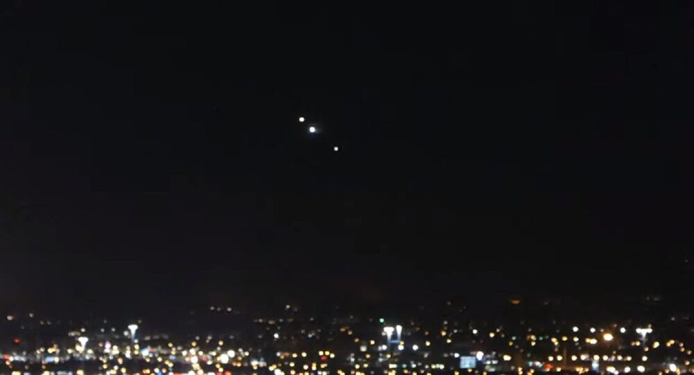 Mysterious lights in Las Vegas, August 6, 2020