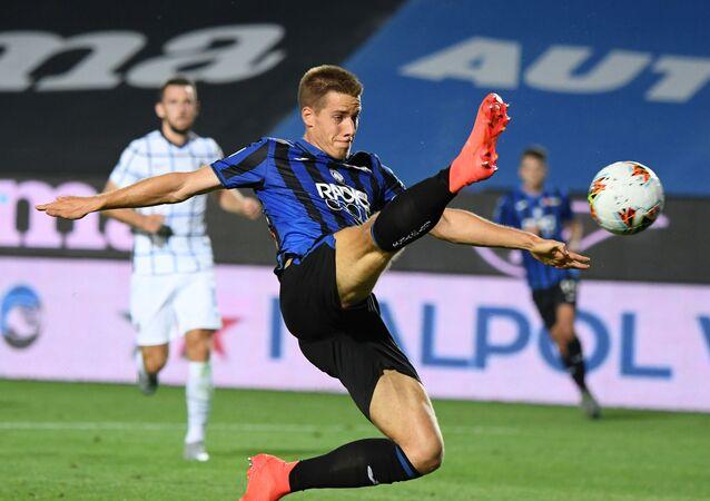 Atalanta's Mario Pasalic during game with Inter Milan in Bergamio, Italy