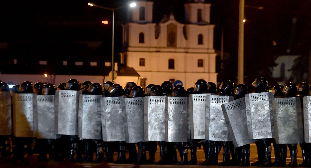 Riot police  in Minsk