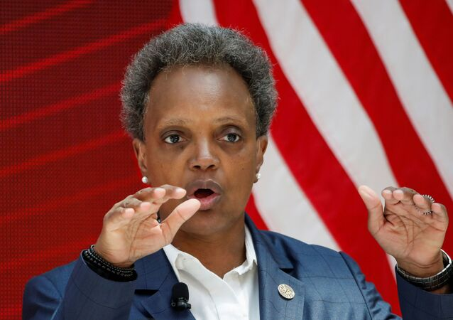 Chicago's Mayor Lori Lightfoot speaks during a science initiative event at the University of Chicago in Chicago, Illinois, U.S. July 23, 2020.