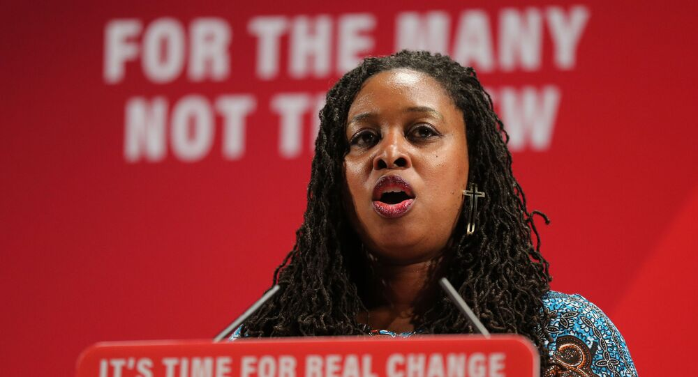 Labour party shadow Minister for Women and Equalities Dawn Butler speaks at the launch of Labour's Race and Faith Manifesto in north London on November 26, 2019.