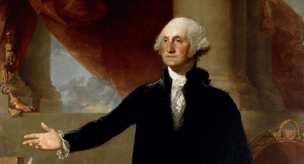 This undated file photo of a 1796 Gilbert Stuart oil on canvas painting portrays George Washington, founding father and first president of the United States. With nearly 60,000 acres and more than 300 slaves, Washington is considered the big daddy of presidential wealth, with estimated wealth equivalent in 2010 to $525 million dollars, according to research by 24/7 Wall St., a news and analysis website. Yet Washington had to borrow money to pay for his trip to New York for his inauguration in 1789, according to Dennis Pogue, vice president for preservation at Mount Vernon, Washington's Virginia estate. His money was tied up in land, reaping only a modest cash income after farm expenses.