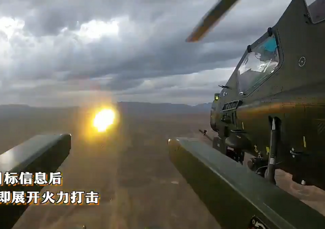 Watch Z-10 firing new missiles in live fire exercise.