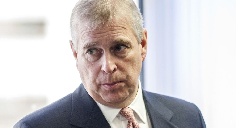 In this Monday, April 13, 2015 file photo, Britain's Prince Andrew visits the AkzoNobel Decorative Paints facility in Slough, England. Prince Andrew's effort to put the Jeffrey Epstein scandal behind him may have instead done him irreparable harm. While aides are trying to put the best face on his widely criticized interview with the BBC, royal watchers are asking whether he can survive the public relations disaster and remain a working member of the royal family