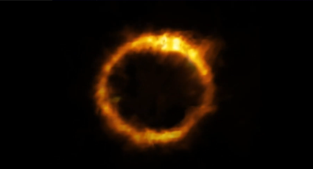 This animation gives the viewer an idea of how astronomers reconstructed the true shape of the SPT0418-47 galaxy, from ALMA observations of the gravitationally lensed view of the galaxy.